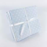 Lot 5 coupons piqué coton 44/50 bleu