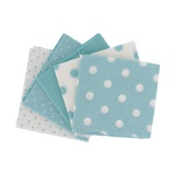 Lot 5 coupons coton 44/50 bleu