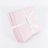 Lot 5 coupons piqué coton 44/50 rose