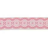 Biais romantique rose 40/20 polyester