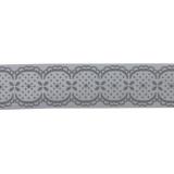 Biais romantique gris 40/20 polyester