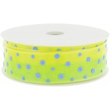 Ruban multi pois 25mm jaune