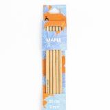 Aiguille tricot 2 pt en bois d'érable 20cm n°5 - 346