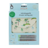 """Pochette pony """"palm"""" circulaires interchangeables - 346"""