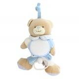 Doudou ours musical bleu 20 x 12 cm