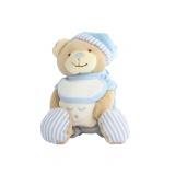 Doudou ours avec étoile bleu