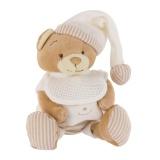 Doudou ours avec étoile beige