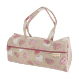 Sac tricot fond coeurs roses