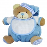 Doudou ours à broder bleu 17 x 19 cm