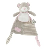 Doudou triangle rose plus bavoir