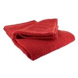 Drap de bain éponge 70/140 rouge