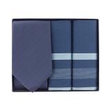 Coffret cadeau : cravate + mouchoirs col varié - 377