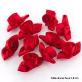 Fleur grand modèle x 10 rouge/rouge