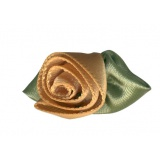 Fleur grand modèle x 100 beige/vert