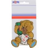Motif à coudre ours téléphone pm