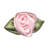 Fleur grand modèle x 10 rose/vert