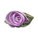 Fleur grand modèle x 10 parme/vert