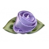 Fleur grand modèle x 10 lilas/vert