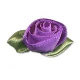Fleur grand modèle x 10 violet/vert
