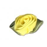 Fleur grand modèle x 10 jaune/vert