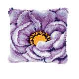 Coussin point noué avec crochet 40/40cm - 4