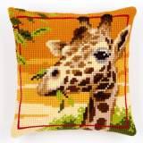 Coussin point de croix giraffe - 4