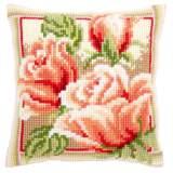 Coussin point de croix roses roses ii - 4