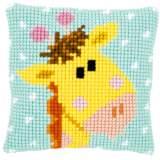 Coussin au point de croix bébé girafe i - 4