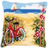 Kit coussin au point de croix a la plage - 4