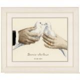 Kit au point compté colombes de mariage aida - 4