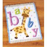 Tapis kit au point noué bébé girafe - 4