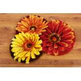 Tapis modelé au point noué tapis de fleurs - 4