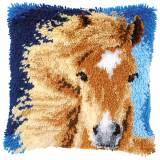Kit coussin au point noué cheval brun - 4