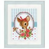 Kit au point compté bambi avec roses aida - 4