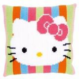 """Coussin au point de croix Hello Kitty """"rayés"""" - 4"""