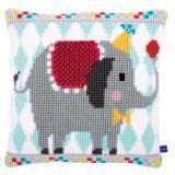 Coussin au point de croix circus elephant - 4