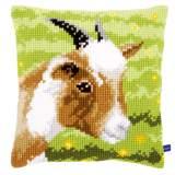 Coussin au point de croix goat - 4