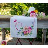 Kit chemin de table aida bouquet fleurs classiques - 4