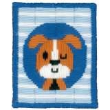 canevas d'enfant (point lancé) un chien - 4