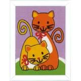 Kit tapisserie chats qui jouent - 4