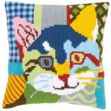 Kit coussin au point de croix chat calico - 4