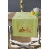 Chemin de table lapins/pâques - 4