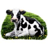 Tapis kit au point noué vache au repos - 4