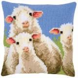 Kit coussin au point de croix moutons curieux - 4