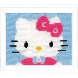 Canevas d'enfants (point lancé) hello kitty - 4