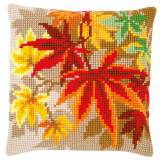 Kit coussin au point de croix feuilles d'automne - 4