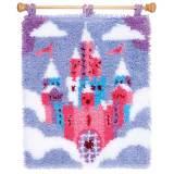 Kit tapis au point noué château de conte de fées - 4