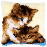 Kit coussin au point noué deux chats - 4