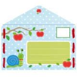 Cartes à broder invitation pommes lot de 5 - 4