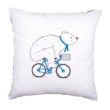 Coussin à broder ours cycliste - 4